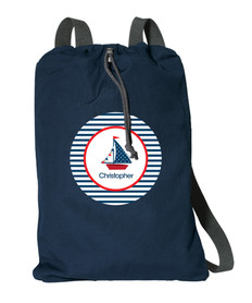 Set Sail Personalized Cinch Bags
