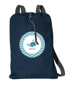 Sweet Little Blue Whale Personalized Bags