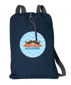 Little Mr. Mustache Personalized Bags For Kids