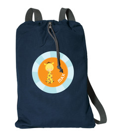 Cute Baby Giraffe Personalized Drawstring Bags