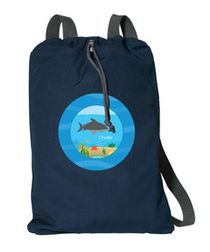 Shark Waves Personalized Cinch Bags