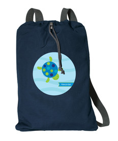 Swimming Blue Turtle Personalized Bags