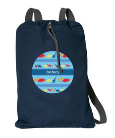 Dinosaur Trails Personalized Drawstring Bags