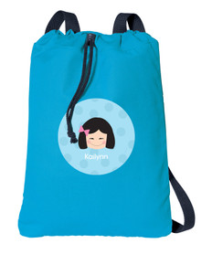 Just Like Me Girl Light Blue personalized bags