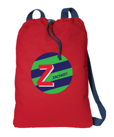 Brilliant Initial Green Personalized Bags