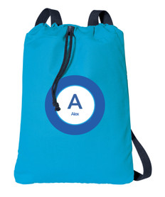A Linen Blue Letter Personalized Bags For Kids