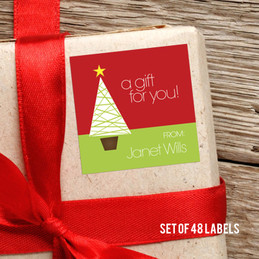 A Modern Kind Of Tree Gift Label