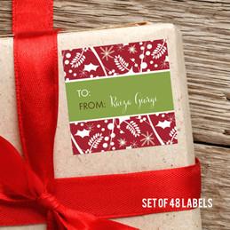 Xmas Feeling Gift Label