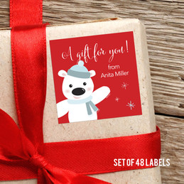 Cute Polar Bear Gift Label