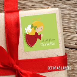 Sweet Blonde Angel Gift Label