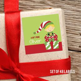 Sweet Blonde Elf Gift Label