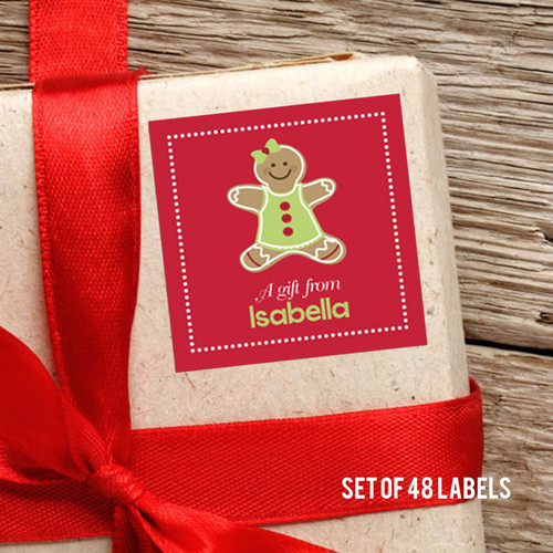 Xmas Cookie For Me-Pink Gift Label