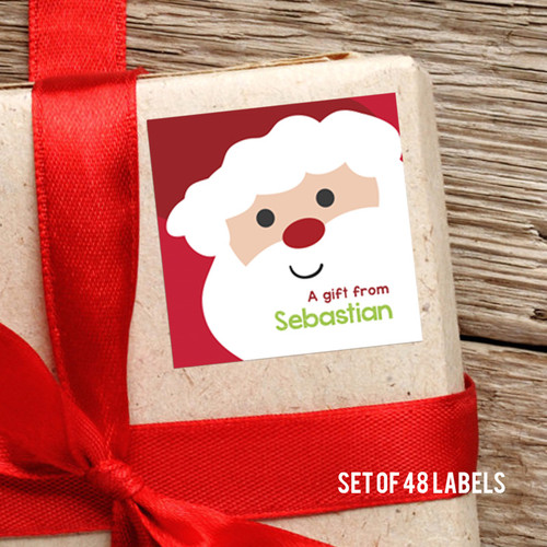 Cookies For Santa Square Gift Label Set