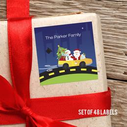 Hohoho Santa Gift Label