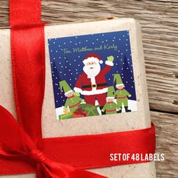 Santa And His Elfs Gift Label
