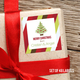Modern Xmas Holiday Gift Label