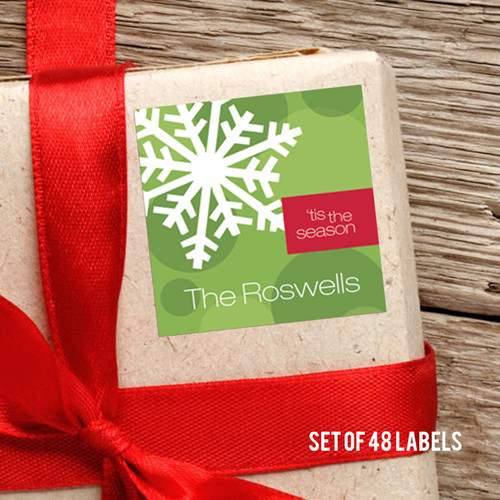 Let It Snow Gift Label