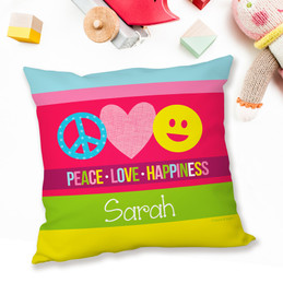 Peace & Love Signs Pillows