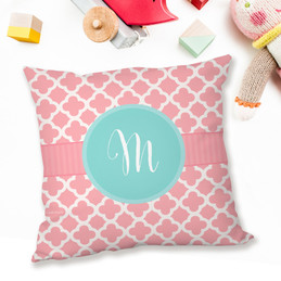 Pretty Pink Quatrefoil Pillows