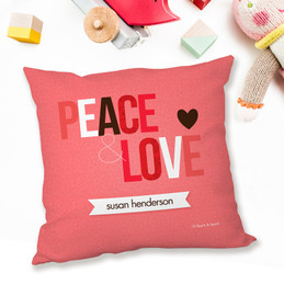 Peace And Love Message Pillows