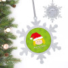 Santa'S Hat Blonde Girl Personalized Christmas Ornaments