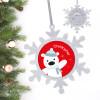 Cute Polar Bear Personalized Christmas Ornaments