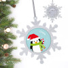 Hello From Mr. Penguin Personalized Christmas Ornaments