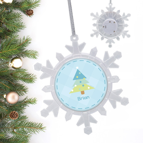 modern blue xmas tree personalized christmas ornaments - Blue Christmas Ornaments