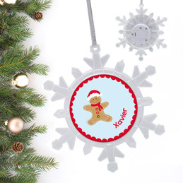 Xmas Cookie For Me Blue Personalized Christmas Ornaments