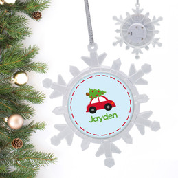 Here Comes The Xmas Tree Personalized Christmas Ornaments