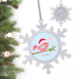 Cute Xmas Birdie Personalized Christmas Ornaments
