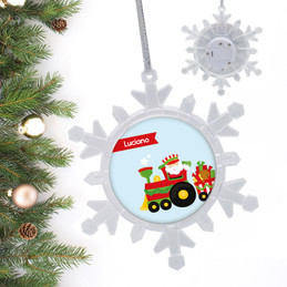 The Xmas Choo Choo Train Personalized Christmas Ornaments
