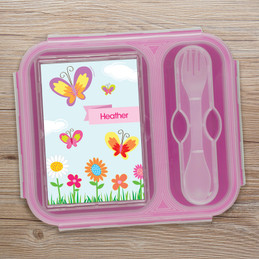 A Butterfly Field Collapsible Lunch Box