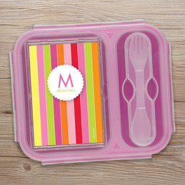 Bold & Fun Stripes Collapsible Lunch Box