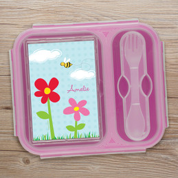 Spring Flowers Collapsible Lunch Box