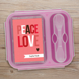 Peace & Love Collapsible Lunch Box