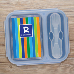 Bold Stripes Collapsible Lunch Box