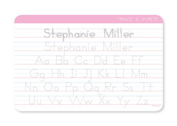 Penmanship Placemat for Girls