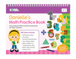 Math Practice Book For Girls