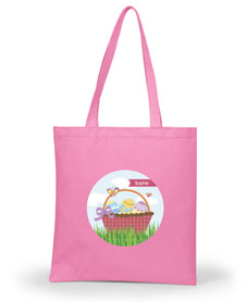 A Cute Pink Easter Basket Custom Easter Basket