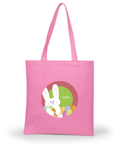 My Easter Bunny Pink Personalized Easter Basket
