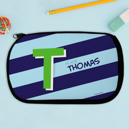 Brilliant Initial - Blue Pencil Case