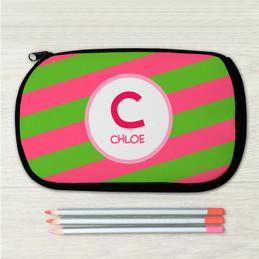 Fun Initials - Pink Pencil Case