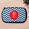 Navy And Red Chevron Pencil Case