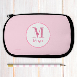 A Shiny Pink Letter Pencil Case