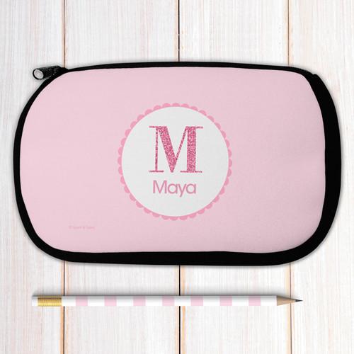A Shiny Pink Letter Pencil Case
