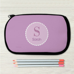 A Shiny Purple Letter Pencil Case