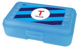 Fun Initials Blue Pencil Box