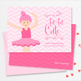 Cute and Fun Toddler Valentines Cards | Sweet Ballerina