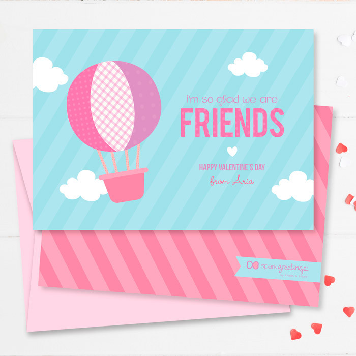 Balloon In The Sky Kids Valentines Cards By Spark Spark